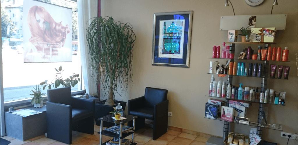 Salon von Innen - Wartebereich